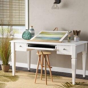 VedaSolidWoodWritingDesk Coastal Office Desks & Beach Office Desks