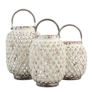 3PieceCeramicLanternSet-300x300 Beach Wedding Lanterns & Nautical Wedding Lanterns