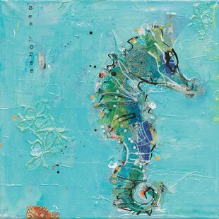 27LittleSeahorse27PaintingPrintonCanvas Seahorse Wall Art & Seahorse Wall Decor