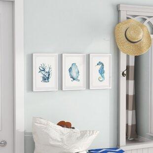 27OceanGemsTriptych273PieceFramedPrintSet-1 Seahorse Wall Art & Seahorse Wall Decor