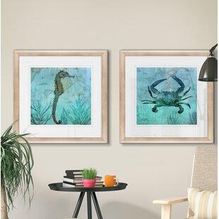 27PacificSeahorse272PieceFramedPrintSet Seahorse Wall Art & Seahorse Wall Decor