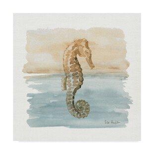 27SandandSeaIII27AcrylicPaintingPrintonWrappedCanvas Seahorse Wall Art & Seahorse Wall Decor