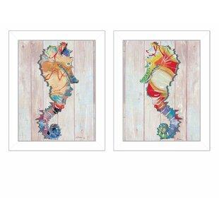27SeaHorses272PieceFramedGraphicArtPrintSet Seahorse Wall Art & Seahorse Wall Decor