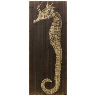 27SeahorseB27GraphicArtPrintonWood Seahorse Wall Art & Seahorse Wall Decor