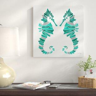 27SeahorseDuoII27PaintingPrintonCanvas Seahorse Wall Art & Seahorse Wall Decor