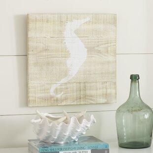 27SeascapeSeahorse27-UnframedPrintonWood Seahorse Wall Art & Seahorse Wall Decor