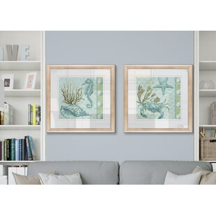 27UnderSeaI272PieceFramedPrintSet Seahorse Wall Art & Seahorse Wall Decor