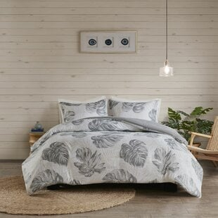 AmySeersuckerPalmDuvetCoverSet Palm Tree Bedding Sets, Comforters, Quilts & Duvet Covers
