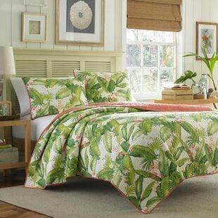 AregadaDockReversibleQuiltSet Palm Tree Bedding Sets & Comforters & Quilts