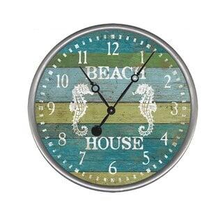 BeachHouseWallClock Coastal Wall Clocks & Beach Wall Clocks