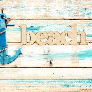 BeachSerifBlockFontWoodSignHomeGalleryWallDE9cor Beach Wall Decor & Coastal Wall Decor