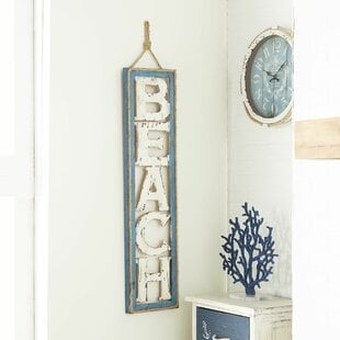 BelmontBeachSignWallDE9cor Beach Wall Decor & Coastal Wall Decor