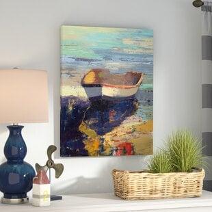 Blueglow-WrappedCanvasPrint Beach Bathroom Decor & Coastal Bathroom Decor