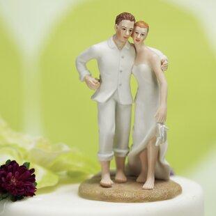 BrideandGroomBeachCakeTopper Beach Wedding Cake Toppers & Nautical Cake Toppers