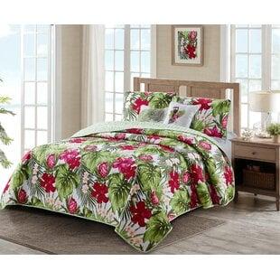 CordellPalmReversibleQuiltSet Palm Tree Bedding Sets, Comforters, Quilts & Duvet Covers