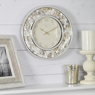 CorsairPearlMosaic10.522WallClock Coastal Wall Clocks & Beach Wall Clocks