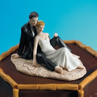 CoupleLoungingontheBeachCakeTopper Beach Wedding Cake Toppers & Nautical Cake Toppers