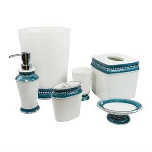 Deluna6-PieceBathroomAccessorySet Beach Bathroom Decor & Coastal Bathroom Decor