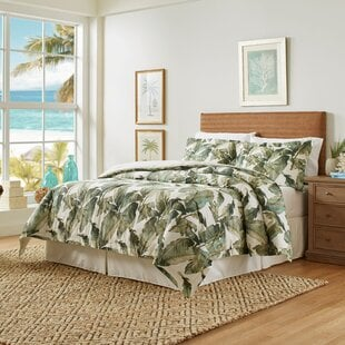 FiestaPalmsCottonReversibleComforterSet Palm Tree Bedding Sets & Comforters & Quilts