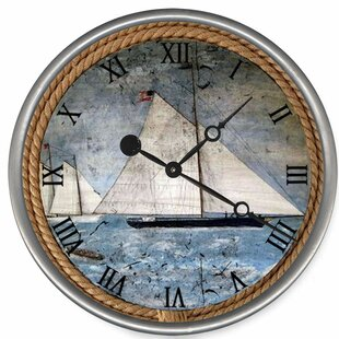 HardeeSchoonerWallClock Coastal Wall Clocks & Beach Wall Clocks