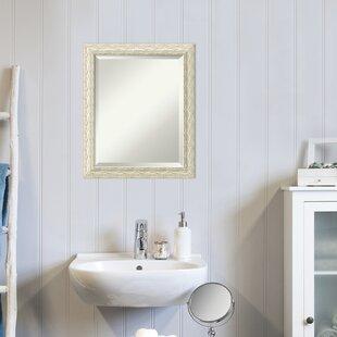 HeidenRusticBeveledDistressedMirror Beach Bathroom Decor & Coastal Bathroom Decor