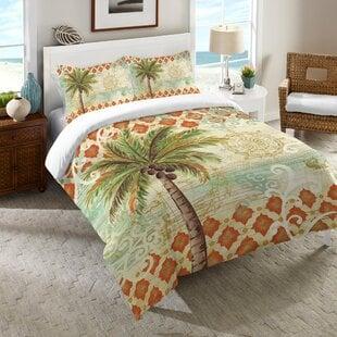 HelenSpicePalmComforter Palm Tree Bedding Sets & Comforters & Quilts