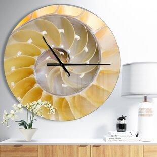 IsolatedNautilusShellCoastalWallClock Coastal Wall Clocks & Beach Wall Clocks