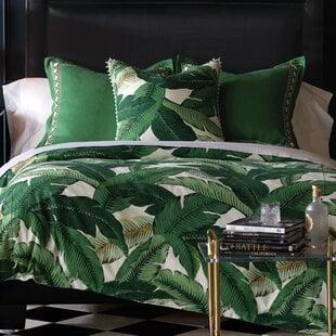 LaniaPalmHandTackedSingleReversibleComforter Palm Tree Bedding Sets & Comforters & Quilts