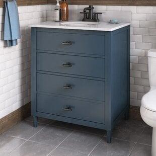 Lasher3022SingleBathroomVanitySet Beach Bathroom Decor & Coastal Bathroom Decor