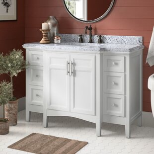 Luz4822SingleBathroomVanitySet Beach Bathroom Decor & Coastal Bathroom Decor