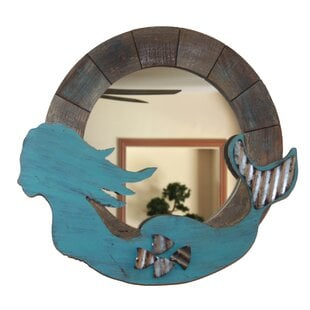 MazonWoodenMermaidAccentMirror Mermaid Home Decor