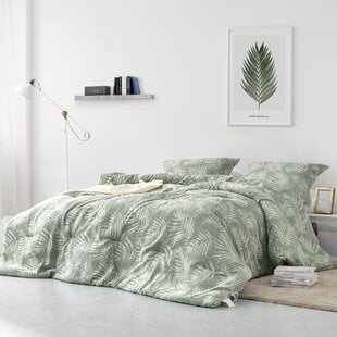 MeisnerPalm10025YarnDyedCottonComforterSet Palm Tree Bedding Sets & Comforters & Quilts