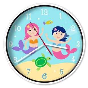 Mermaids1222WallClock Mermaid Home Decor