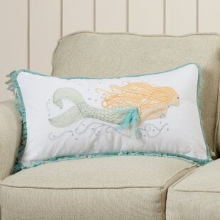 NelighPearloftheSeaMermaidCottonLumbarPillow Mermaid Home Decor