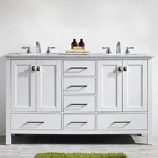 Newtown6022DoubleBathroomVanitySet Beach Bathroom Decor & Coastal Bathroom Decor