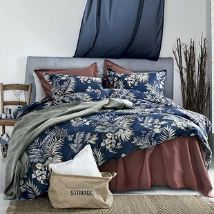 OsmanuModernLuxuryBotanicalMinimalPalmLeafFloral10025Cotton3PieceDuvetCoverSet Palm Tree Bedding Sets & Comforters & Quilts