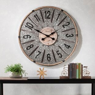 Oversized3622WallClock Coastal Wall Clocks & Beach Wall Clocks