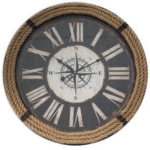 OversizedAmherst23.622WallClock Coastal Wall Clocks & Beach Wall Clocks