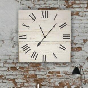 OversizedMaurielloClassicFarmhouseWallClock Coastal Wall Clocks & Beach Wall Clocks