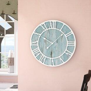 OversizedRosalindeDecorative23.522WallClock Coastal Wall Clocks & Beach Wall Clocks