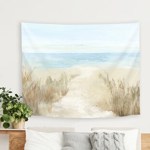 PICreativeArtSunnyBeachITapestry Beach Wall Decor & Coastal Wall Decor