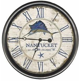 PersonalizedSailfishWallClock Coastal Wall Clocks & Beach Wall Clocks