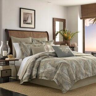 RaffiaPalms10025Cotton3PieceReversibleDuvetCoverSet Palm Tree Bedding Sets, Comforters, Quilts & Duvet Covers
