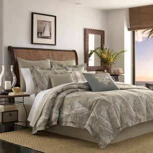 RaffiaPalms10025CottonReversibleComforterSetbyTommyBahamaBedding Palm Tree Bedding Sets, Comforters, Quilts & Duvet Covers
