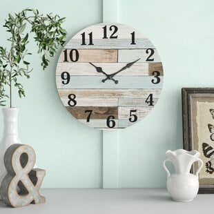 RoseanneVintage1422WallClock Coastal Wall Clocks & Beach Wall Clocks