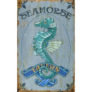 SeahorseVintageAdvertisementPlaque Seahorse Wall Art & Seahorse Wall Decor
