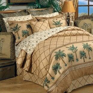 SharronComforterSet Palm Tree Bedding Sets & Comforters & Quilts
