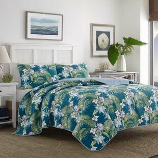 SouthernBreezeReversibleQuiltSetbyTommyBahamaBedding Palm Tree Bedding Sets & Comforters & Quilts