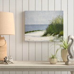 WhiteSands-WrappedCanvasPaintingPrintonCanvas Beach Wall Decor & Coastal Wall Decor