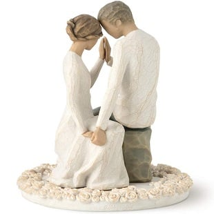 Willow-Tree-Around-You-sculpted-hand-painted-cake-topper Beach Wedding Cake Toppers & Nautical Cake Toppers